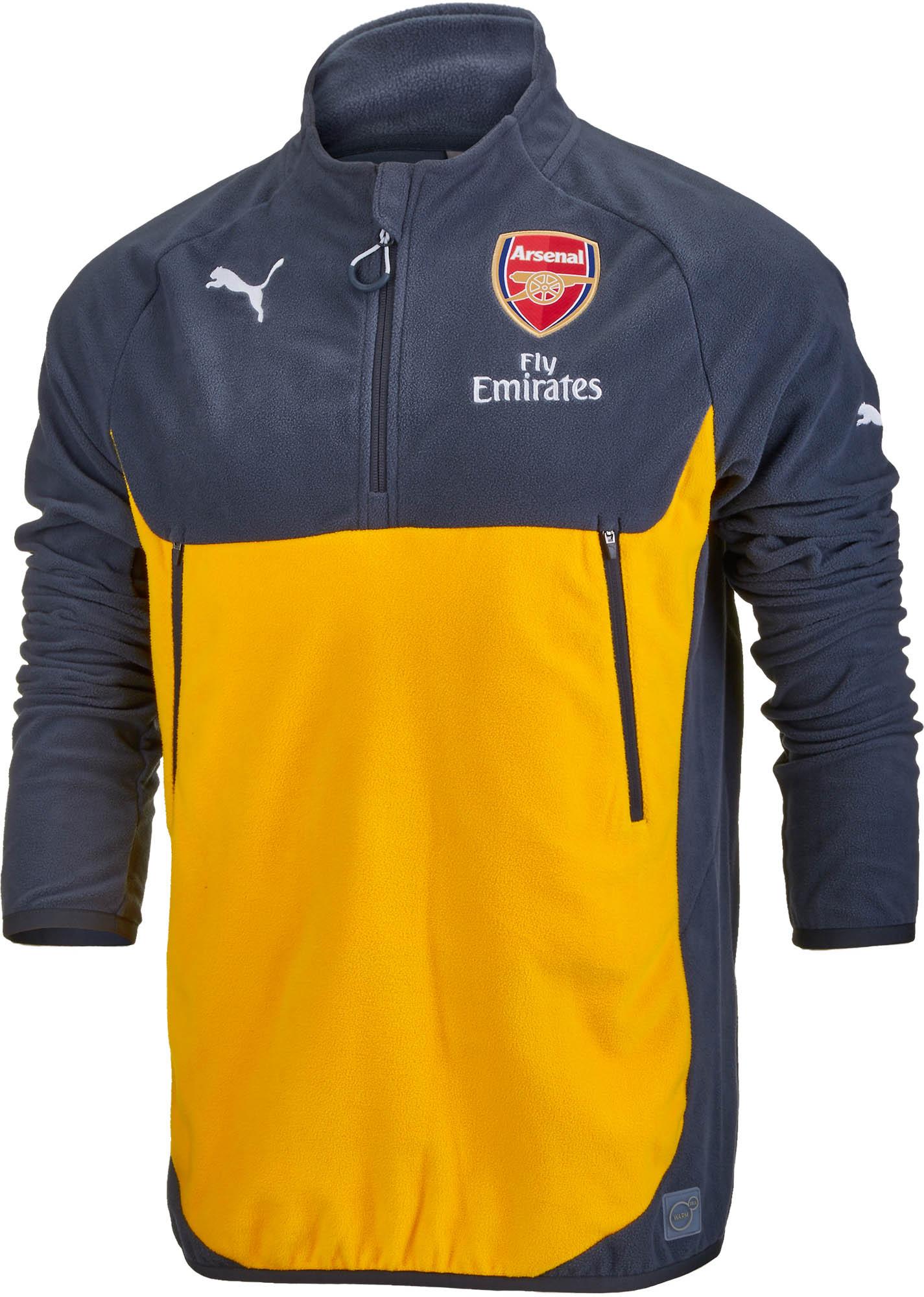 b931b605b5f Puma Arsenal Training Fleece - Ebony   Spectra Yellow