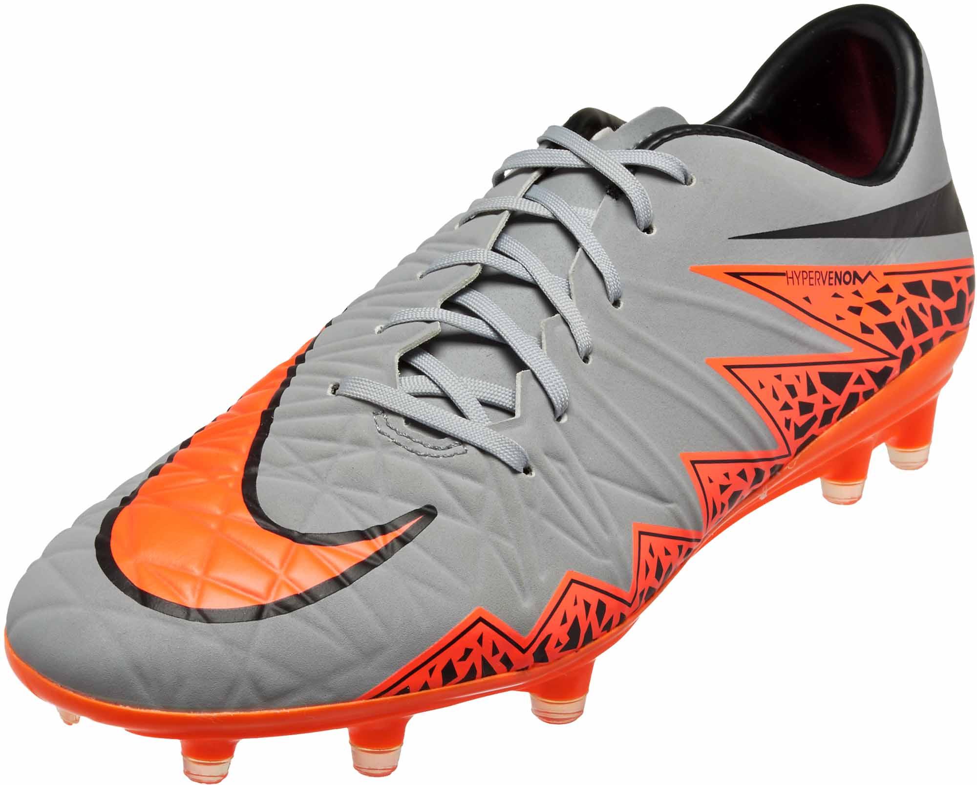 68f8b316a45 Nike Hypervenom Phatal II - Grey Hypervenom 2 FG Soccer Cleats
