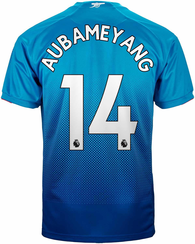 e97489106 2017 18 Puma Arsenal Aubameyang Away Jersey - SoccerPro
