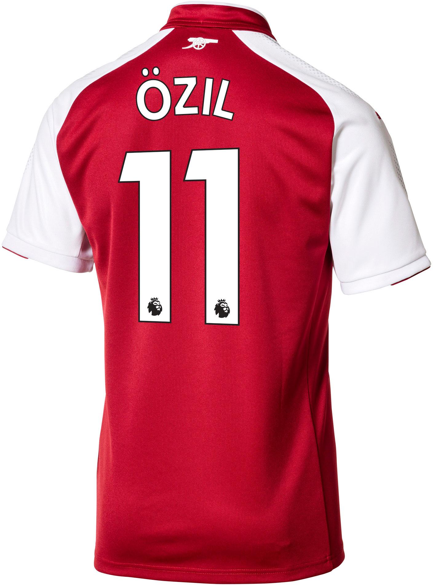 purchase cheap c34c7 4cc2f Puma Kids Mesut Ozil Arsenal Home Jersey 2017-18