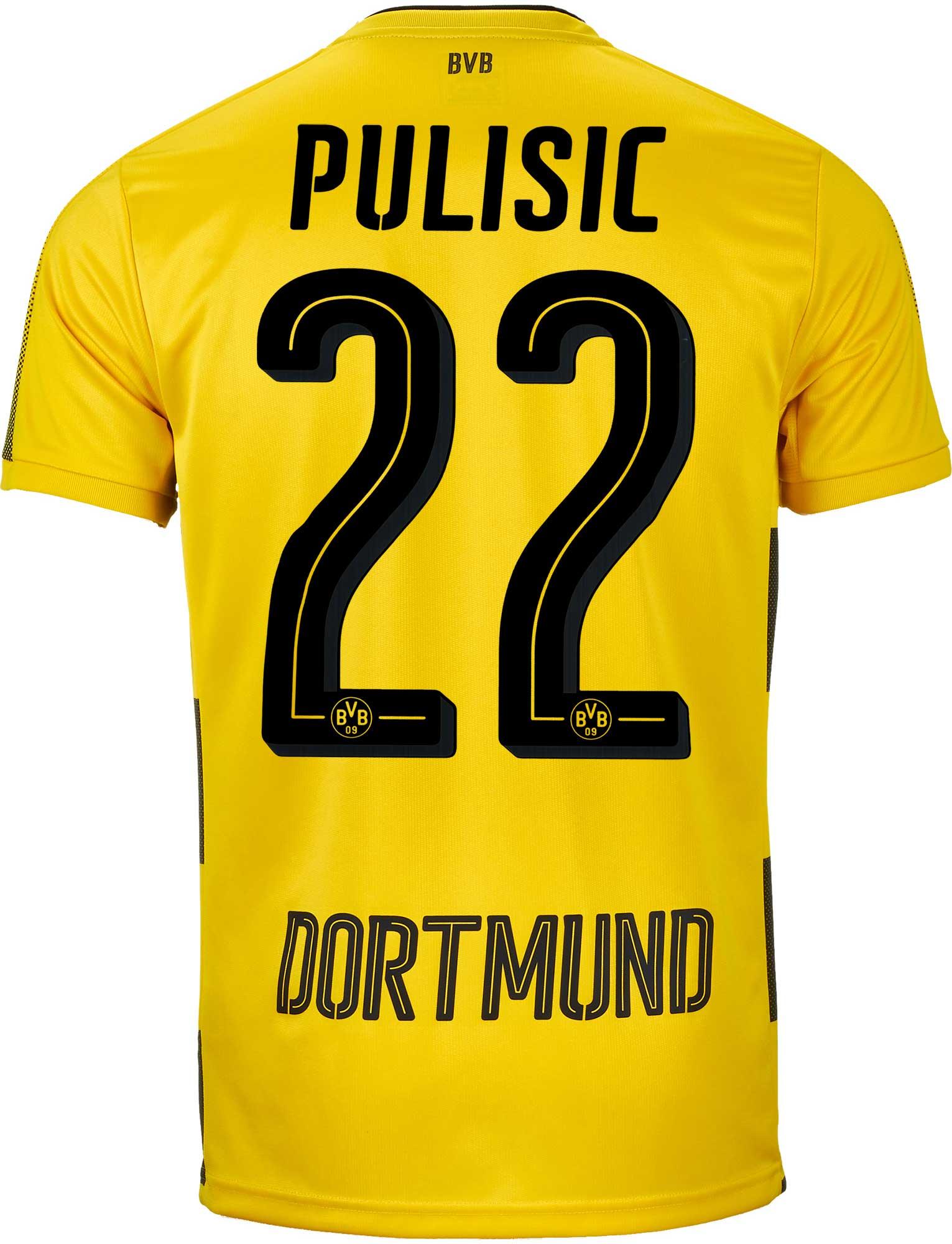 67a38f21b26 2017/18 Puma Christian Pulisic Borussia Dortmund Home Jersey