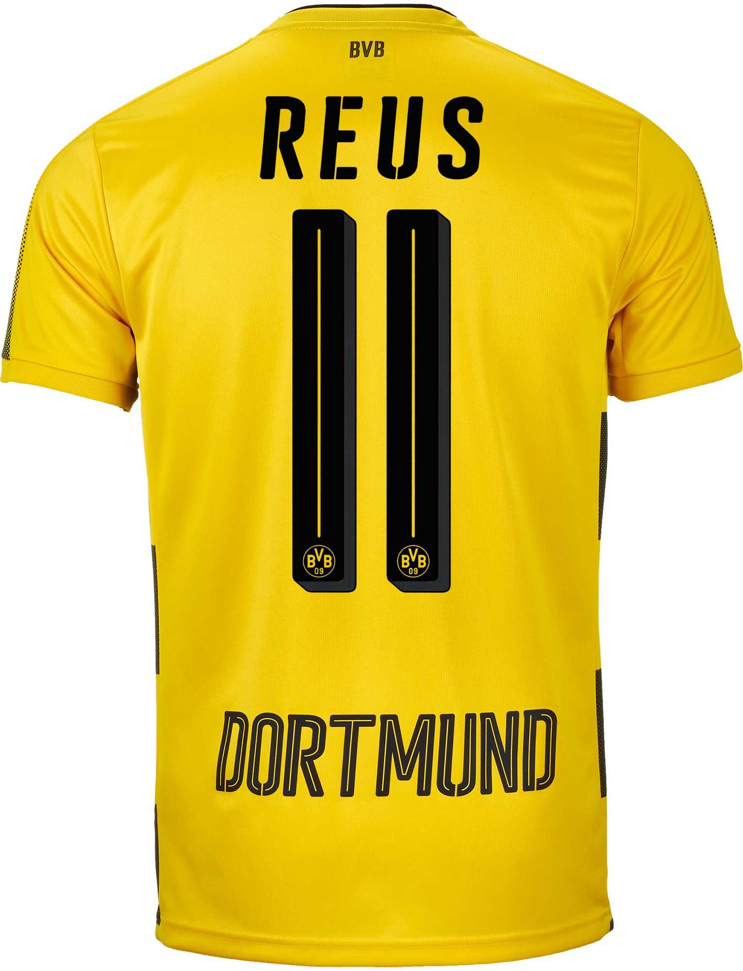 competitive price 86a17 a6568 Puma Marco Reus Borussia Dortmund Home Jersey 2017-18