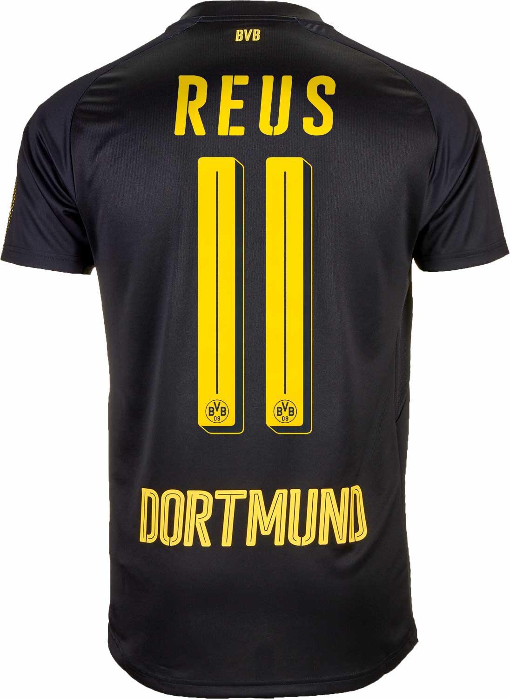 on sale b51c6 0d087 Puma Marco Reus Borussia Dortmund Away Jersey 2017-18