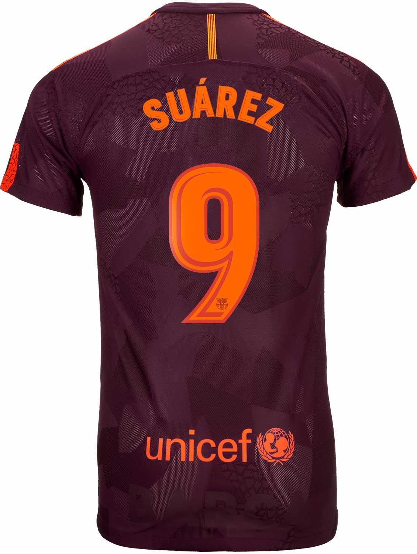 innovative design f4f50 88986 Nike Luis Suarez Barcelona 3rd Match Jersey 2017-18