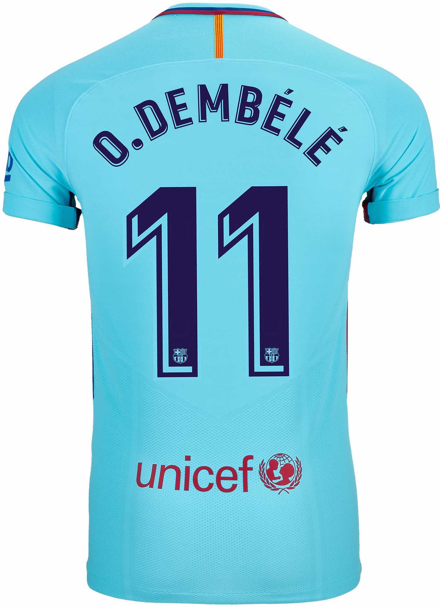 f1387823fae Nike Ousmane Dembele Barcelona Away Match Jersey 2017-18 - SoccerPro