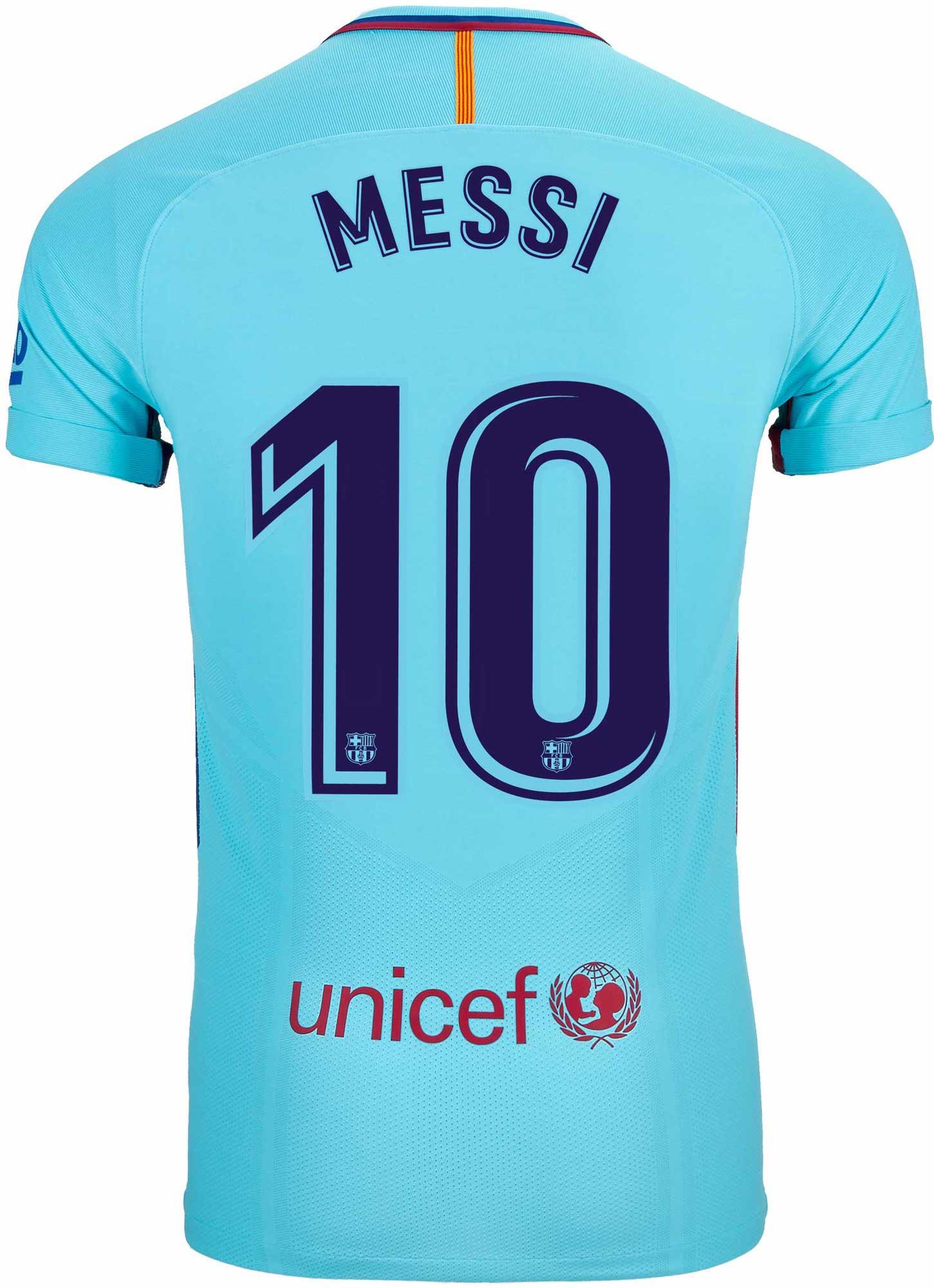 8886f1834c5 Nike Lionel Messi Barcelona Away Match Jersey 2017-18