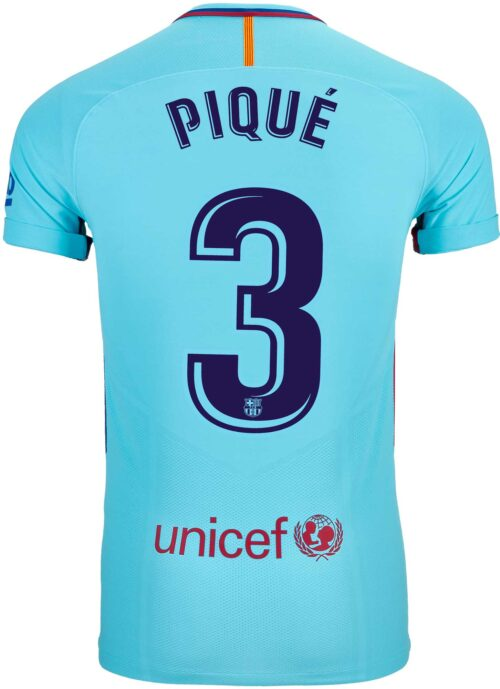 Nike Gerard Pique Barcelona Away Match Jersey 2017-18