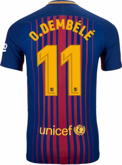 Nike Ousmane Dembele Barcelona Match Home Jersey 2017-18