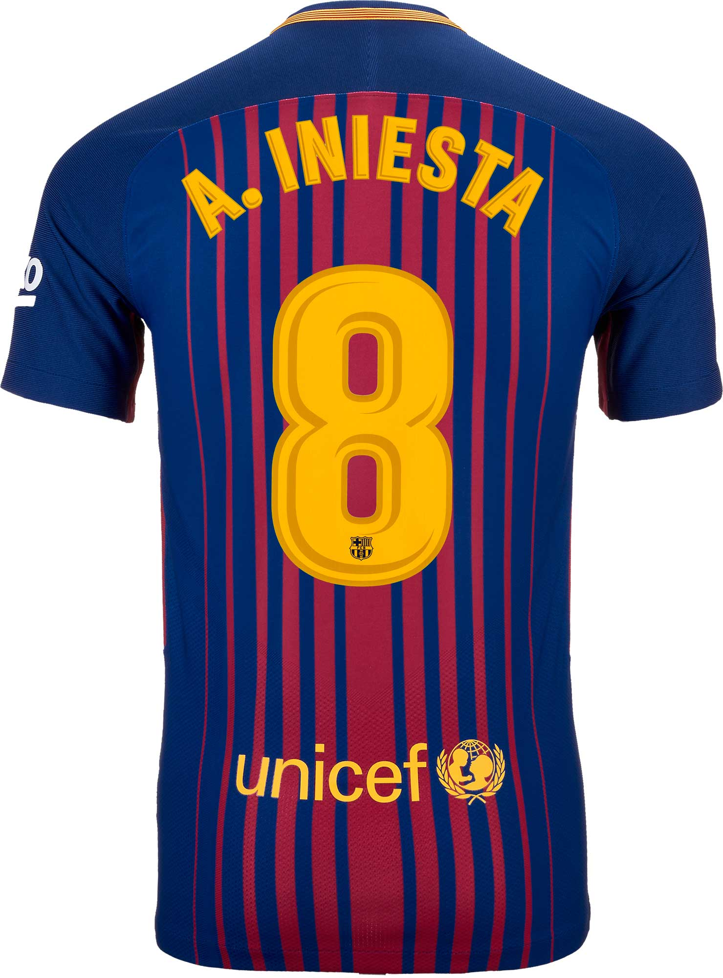c127f9052 Nike Andres Iniesta Barcelona Match Home Jersey 2017-18