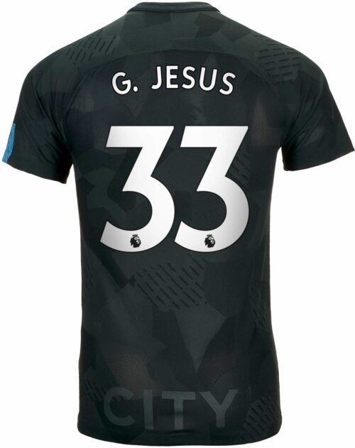 Nike Gabriel Jesus Manchester City 3rd Match Jersey 2017-18