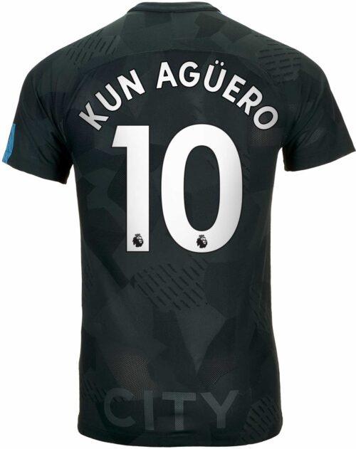 Nike Sergio Aguero Manchester City 3rd Match Jersey 2017-18