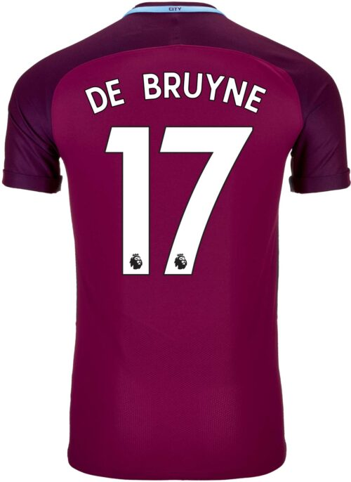 Nike Kevin De Bruyne Manchester City Away Match Jersey 2017-18