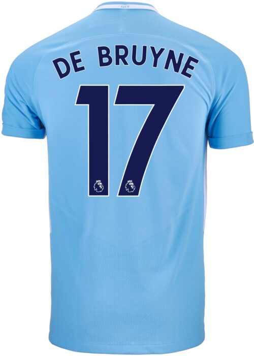 Nike Kevin De Bruyne Manchester City Match Home Jersey 2017-18