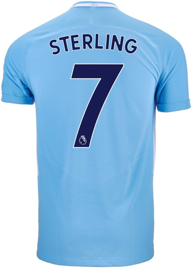 Nike Raheem Sterling Manchester City Match Home Jersey 2017-18