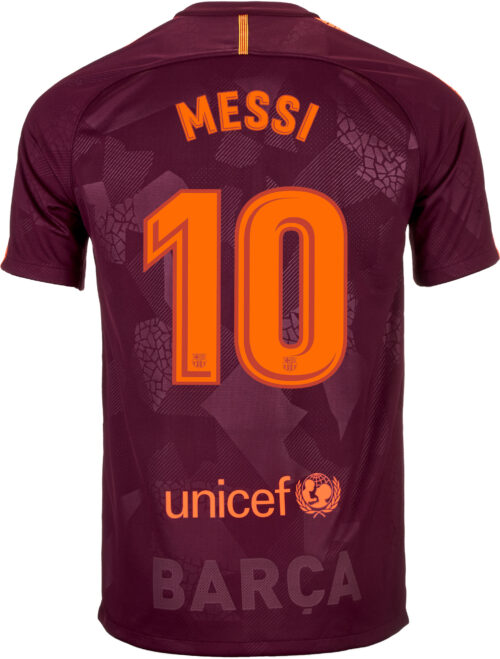 Nike Lionel Messi Barcelona 3rd Jersey 2017-18