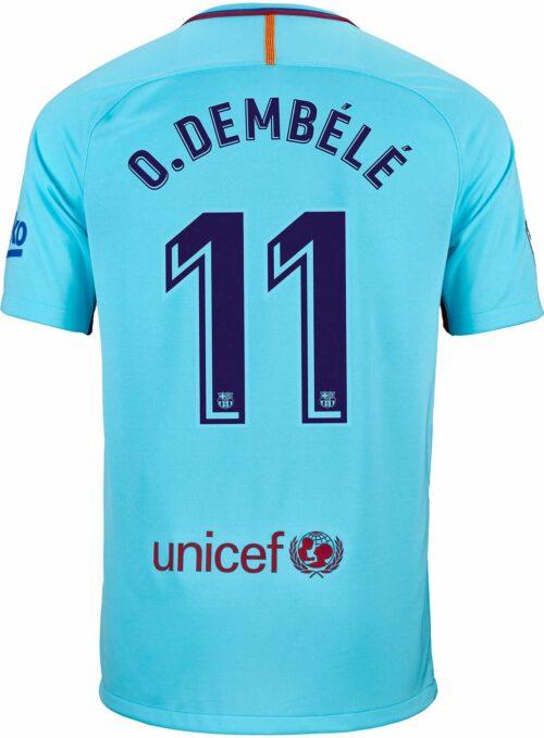Nike Ousmane Dembele Barcelona Away Jersey 2017-18