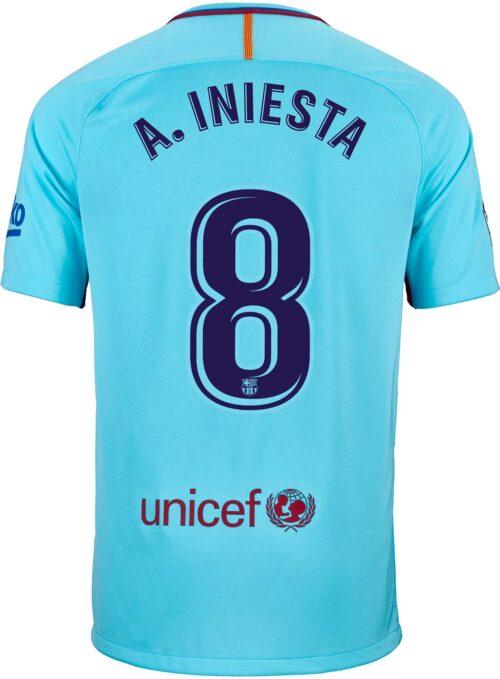 Nike Andres Iniesta Barcelona Away Jersey 2017-18