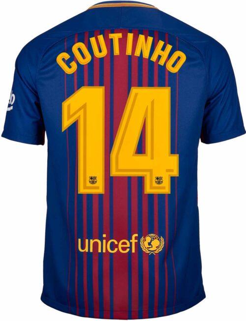 Nike Philippe Coutinho Barcelona Home Jersey 2017-18
