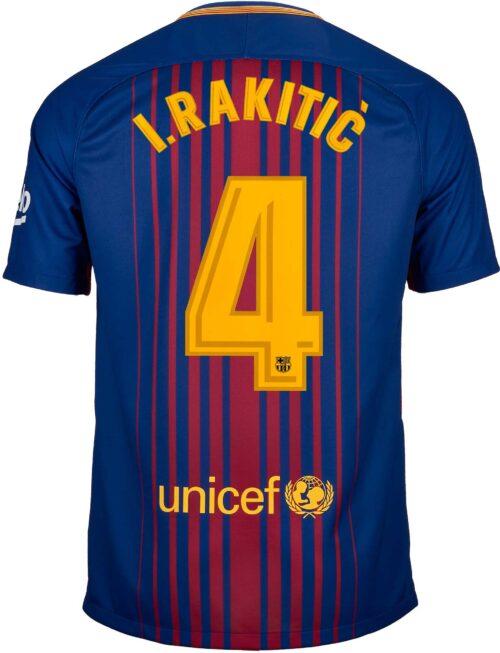 Nike Ivan Rakitic Barcelona Home Jersey 2017-18