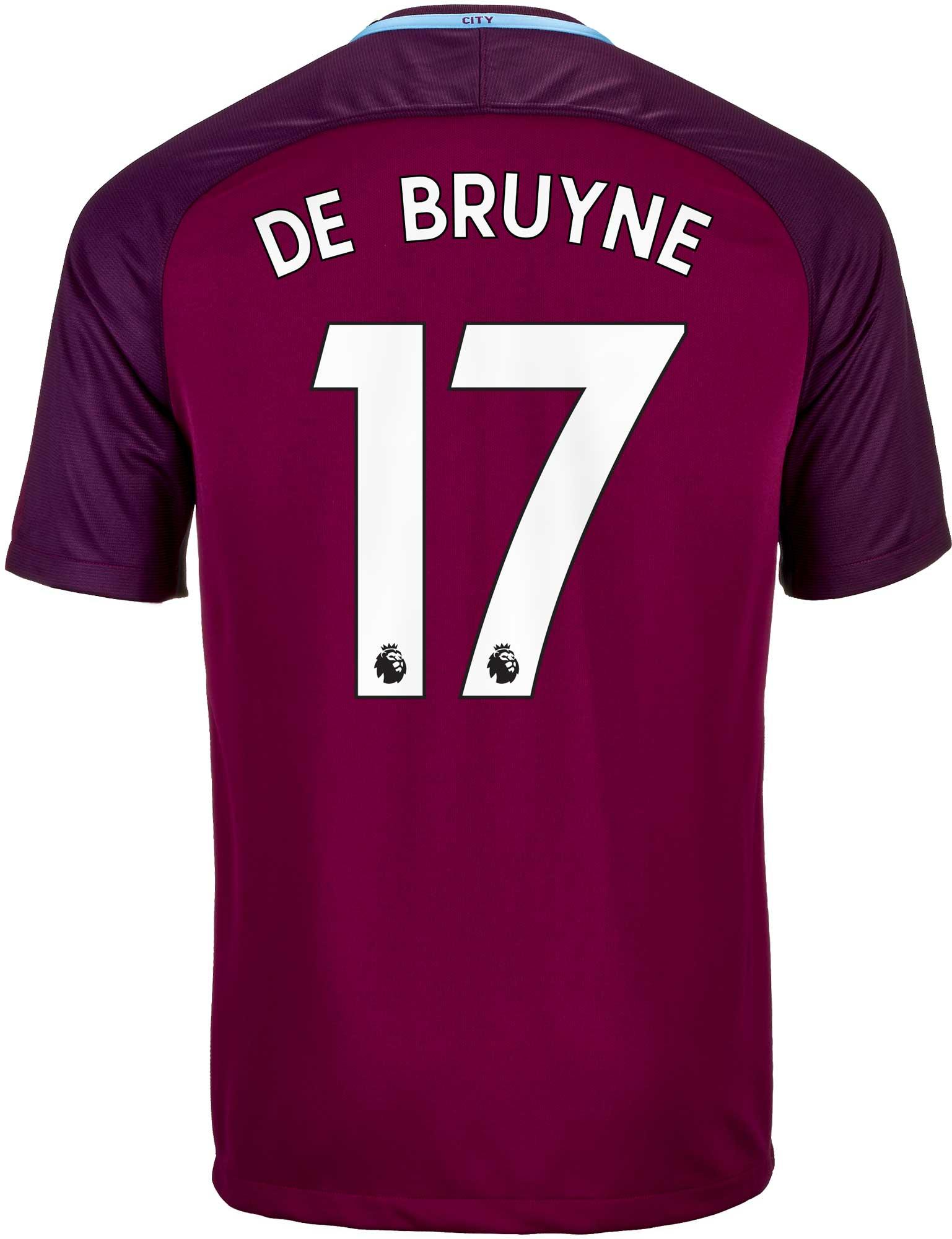 b71bc6374d8 Nike Kevin De Bruyne Manchester City Away Jersey 2017-18 - SoccerPro
