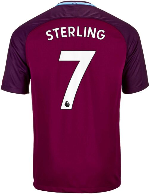 Nike Raheem Sterling Manchester City Away Jersey 2017-18