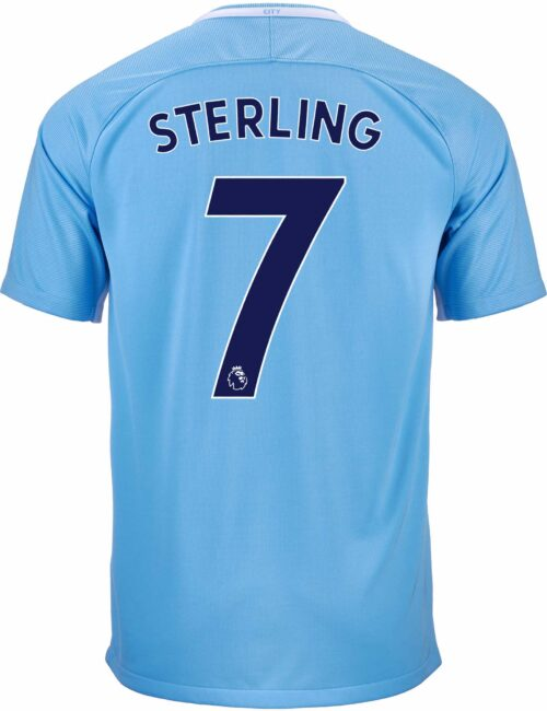 Nike Raheem Sterling Manchester City Home Jersey 2017-18