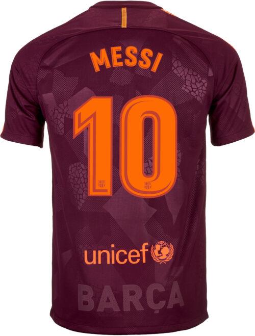 Nike Kids Lionel Messi Barcelona 3rd Jersey 2017-18