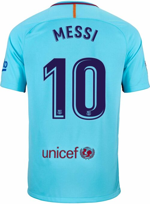 Nike Kids Lionel Messi Barcelona Away Jersey 2017-18