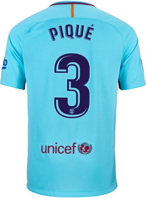 Nike Kids Gerard Pique Barcelona Away Jersey 2017-18