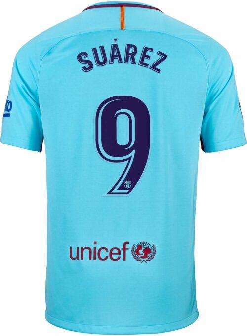 Nike Kids Luis Suarez Barcelona Away Jersey 2017-18