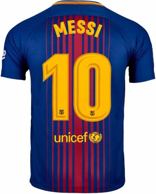 Nike Kids Lionel Messi Barcelona Home Jersey 2017-18