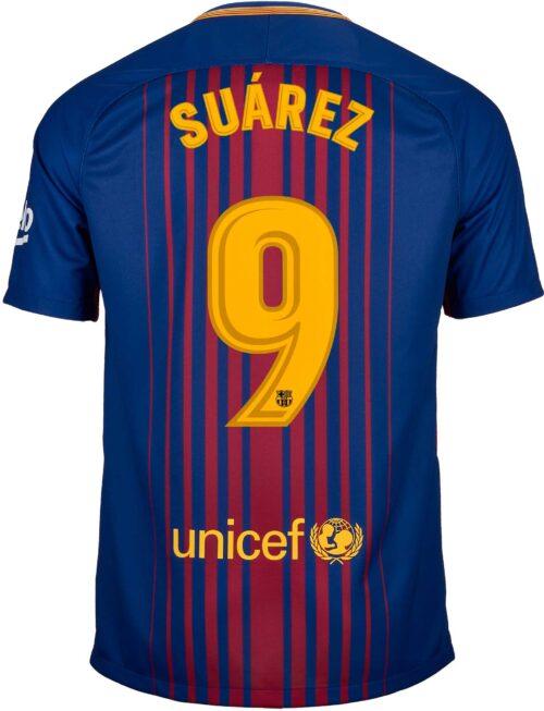 Nike Kids Luis Suarez Barcelona Home Jersey 2017-18