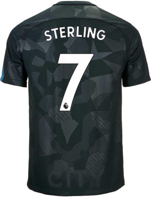Nike Kids Raheem Sterling Manchester City 3rd Jersey 2017-18