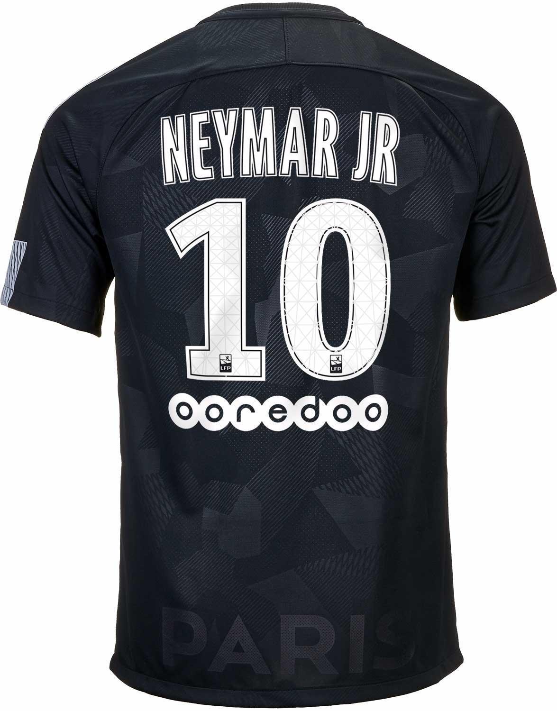 9f5fdc171a63 2017 18 Nike Neymar PSG 3rd Jersey - SoccerPro.com