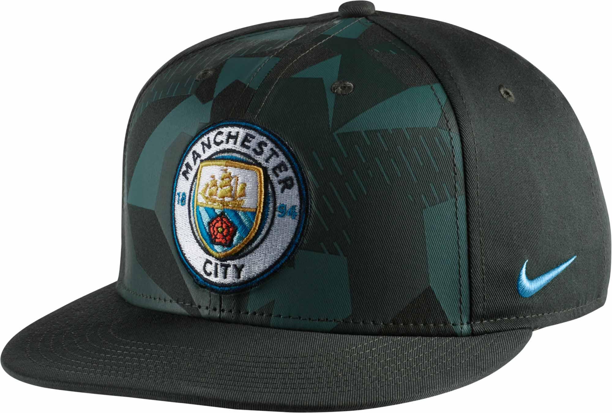 Nike Manchester City True Cap- Vintage Green Soccer Hat 5bdbeb2da21