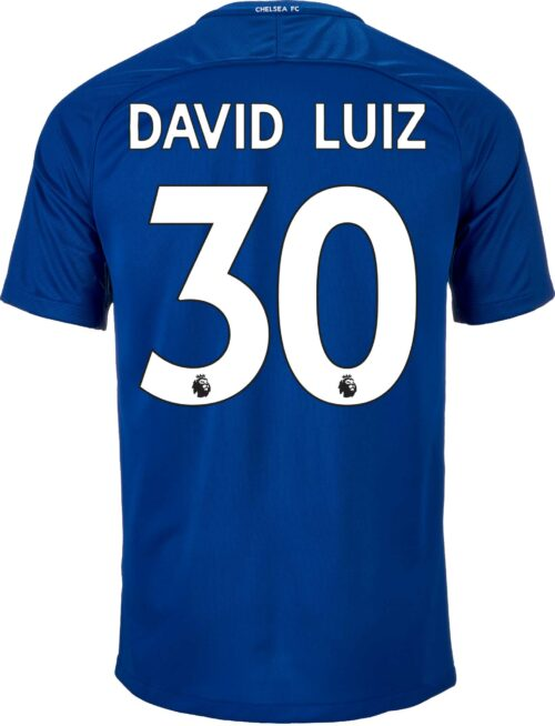 2017/18 Nike Kids David Luiz Chelsea Home Jersey