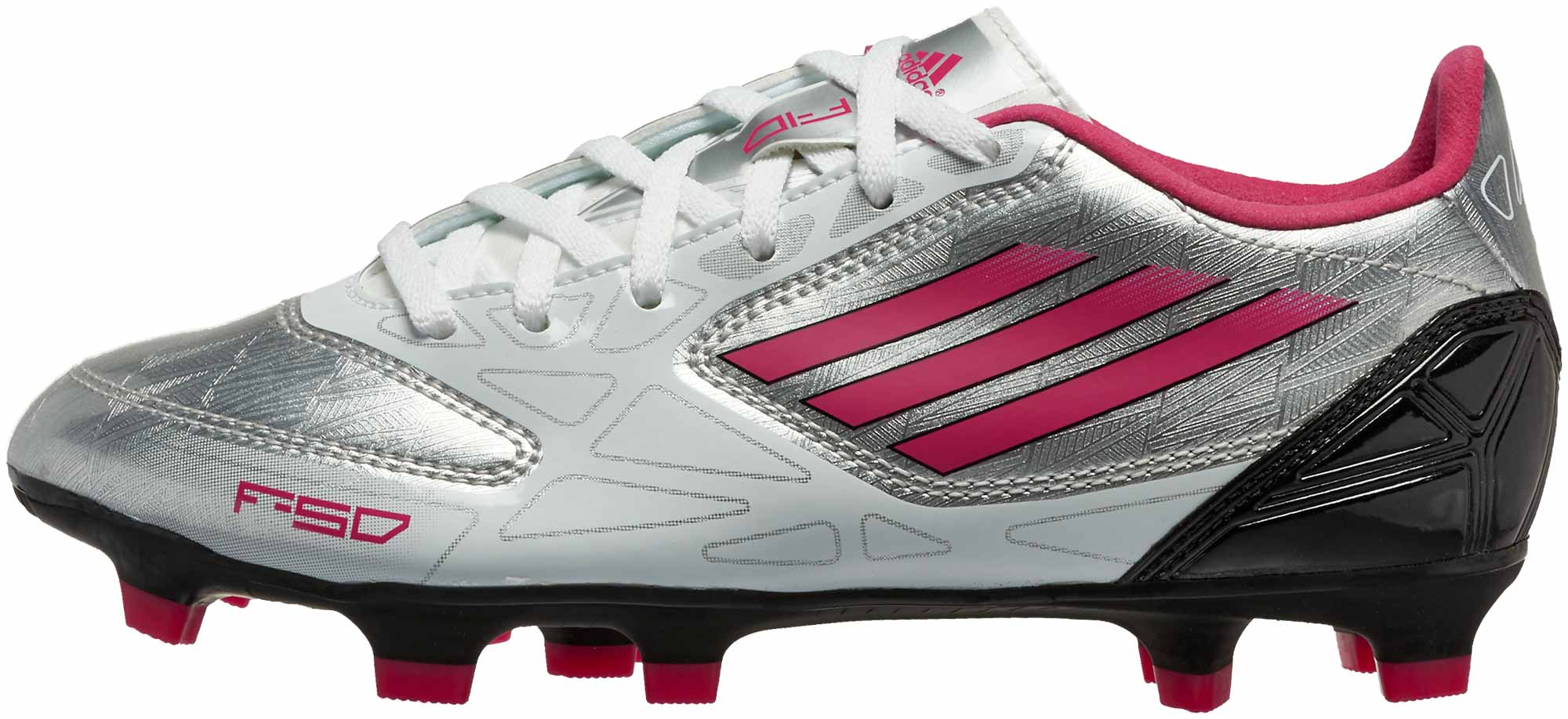 watch 8884f c773f adidas Womens F10 TRX FG Soccer Cleats Silver Pink Black