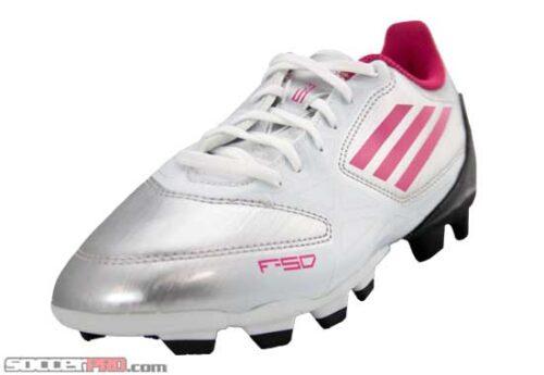 adidas Womens F5 TRX FG Soccer Cleats  Silver/Pink/Black