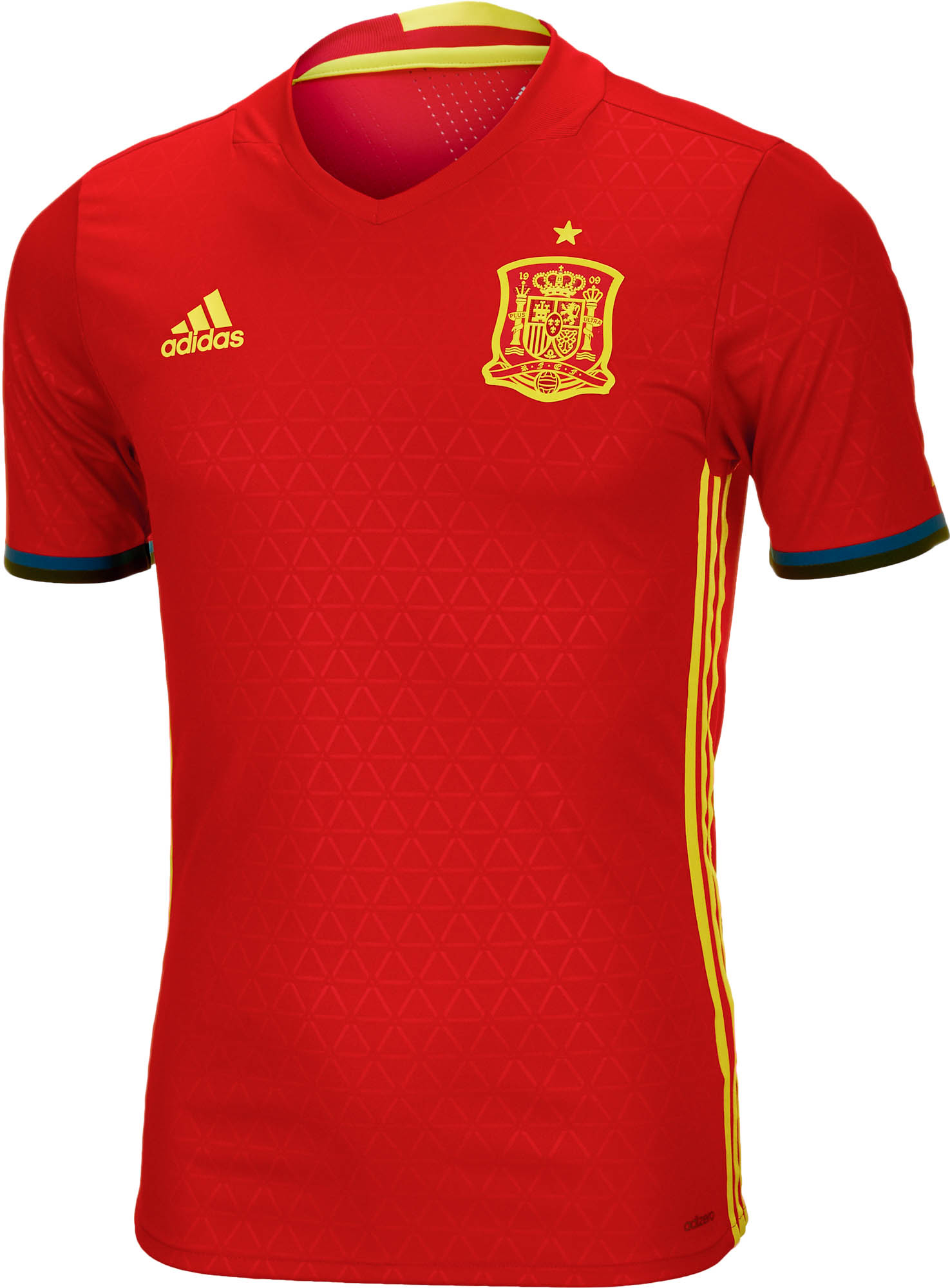 adidas Authentic Spain Jersey - 2016 Home Spain Jerseys e1e1ab643