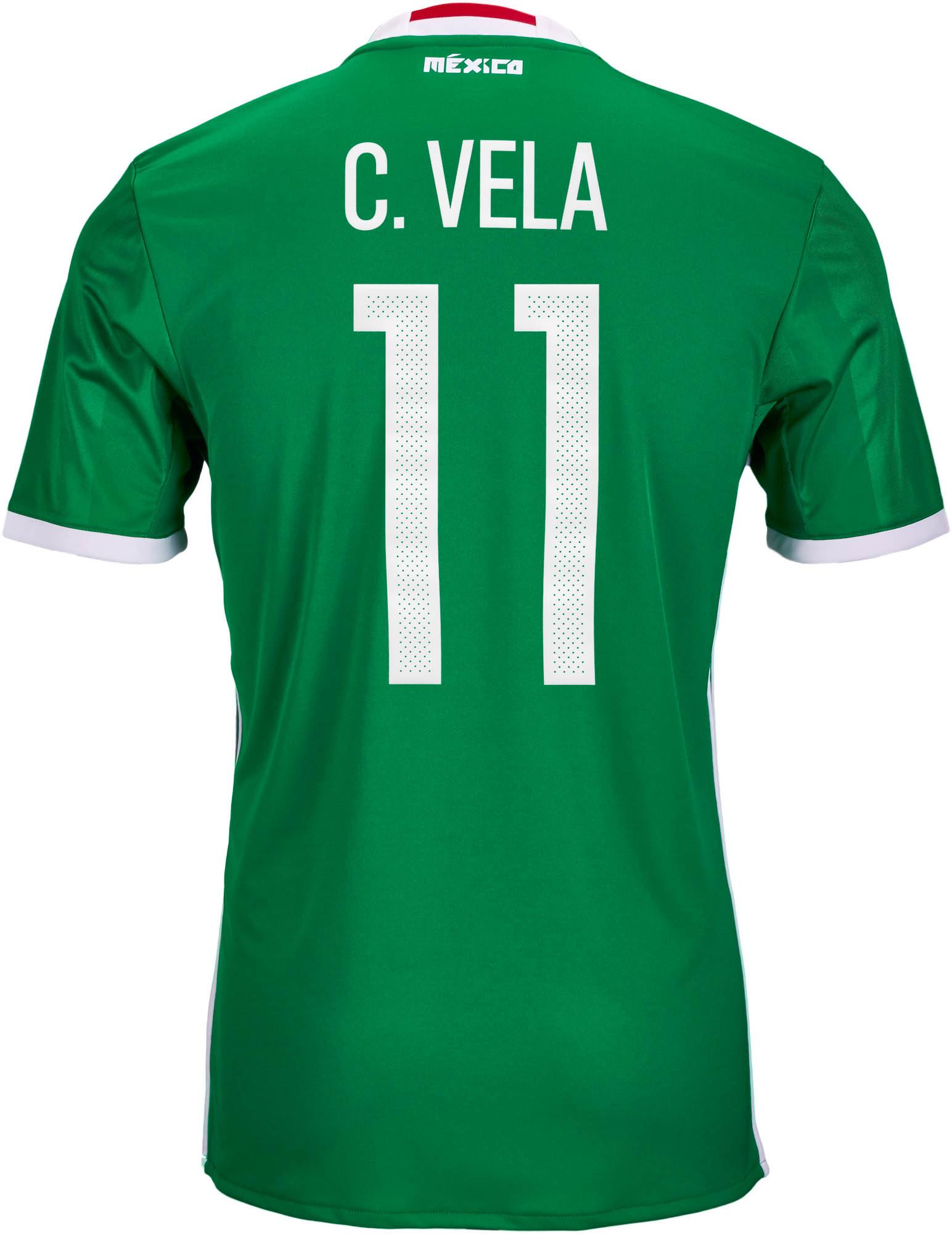 adidas Kids Carlos Vela Mexico Home Jersey 2016-17