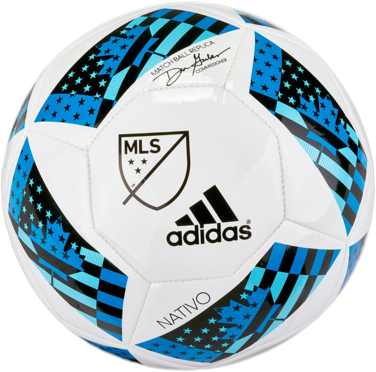 adidas MLS 2016 Glider Soccer Ball – White/Shock Blue