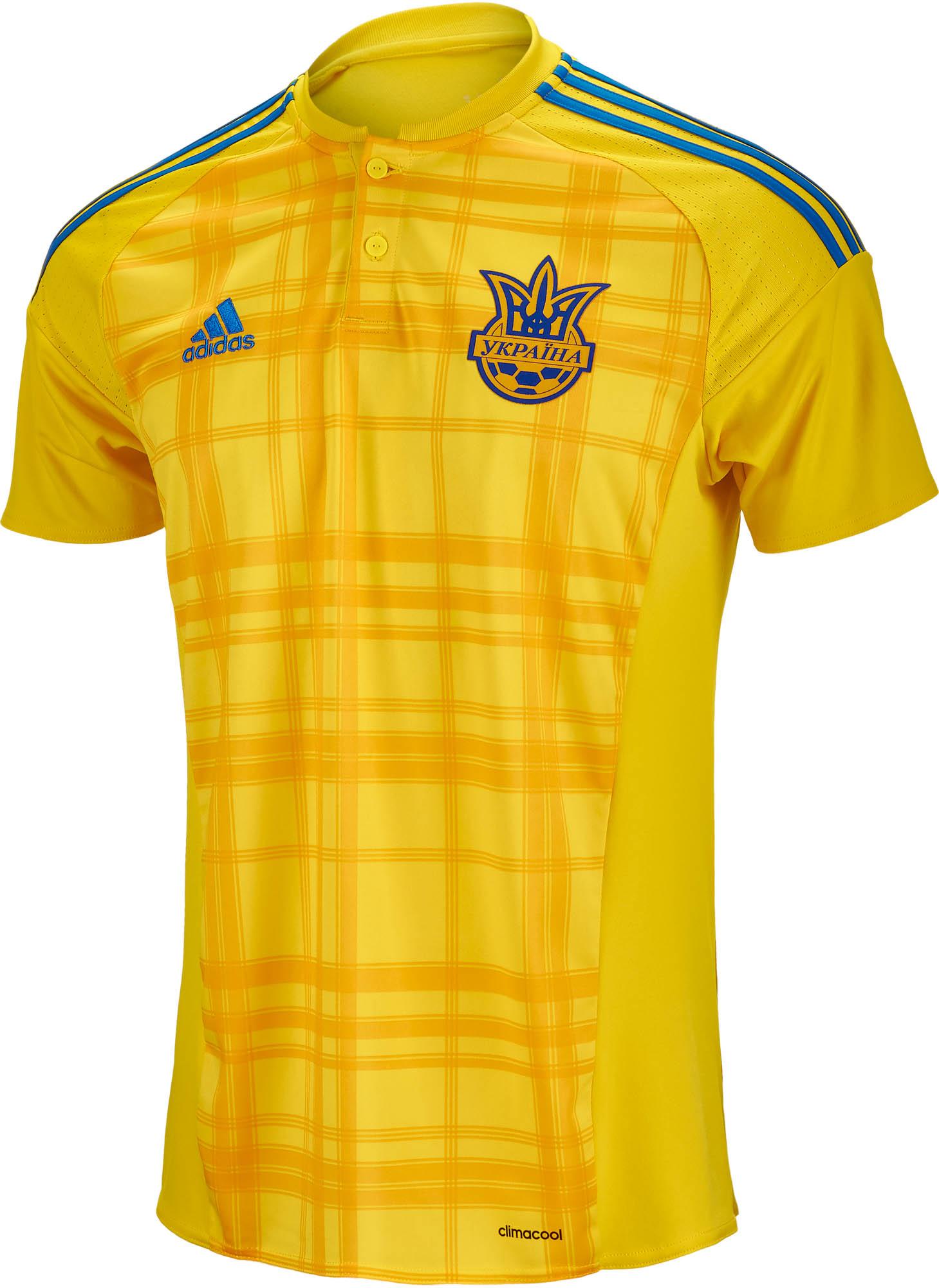 a6d63947dfa adidas Ukraine Away Jersey - 2016 Ukraine Soccer Jerseys