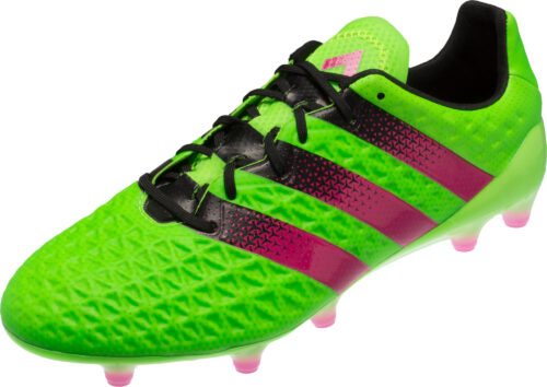 adidas ACE 16.1 FG Soccer Cleats – Solar Green/Shock Pink