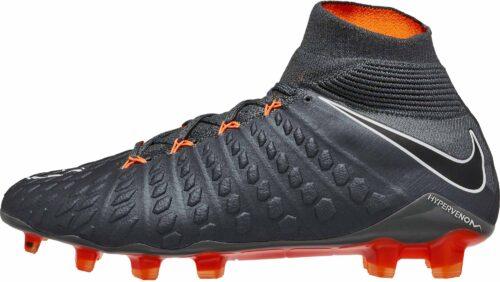 Nike Hypervenom Phantom 3 Elite DF FG – Dark Grey/Total Orange