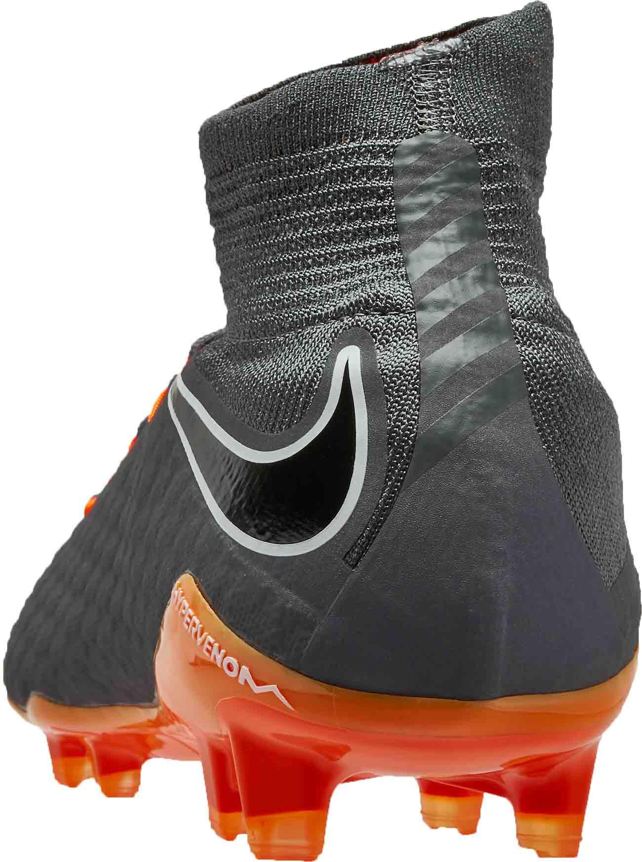 dc275aa5b Nike Hypervenom Phantom 3 Pro DF FG - Dark Grey Total Orange - SoccerPro