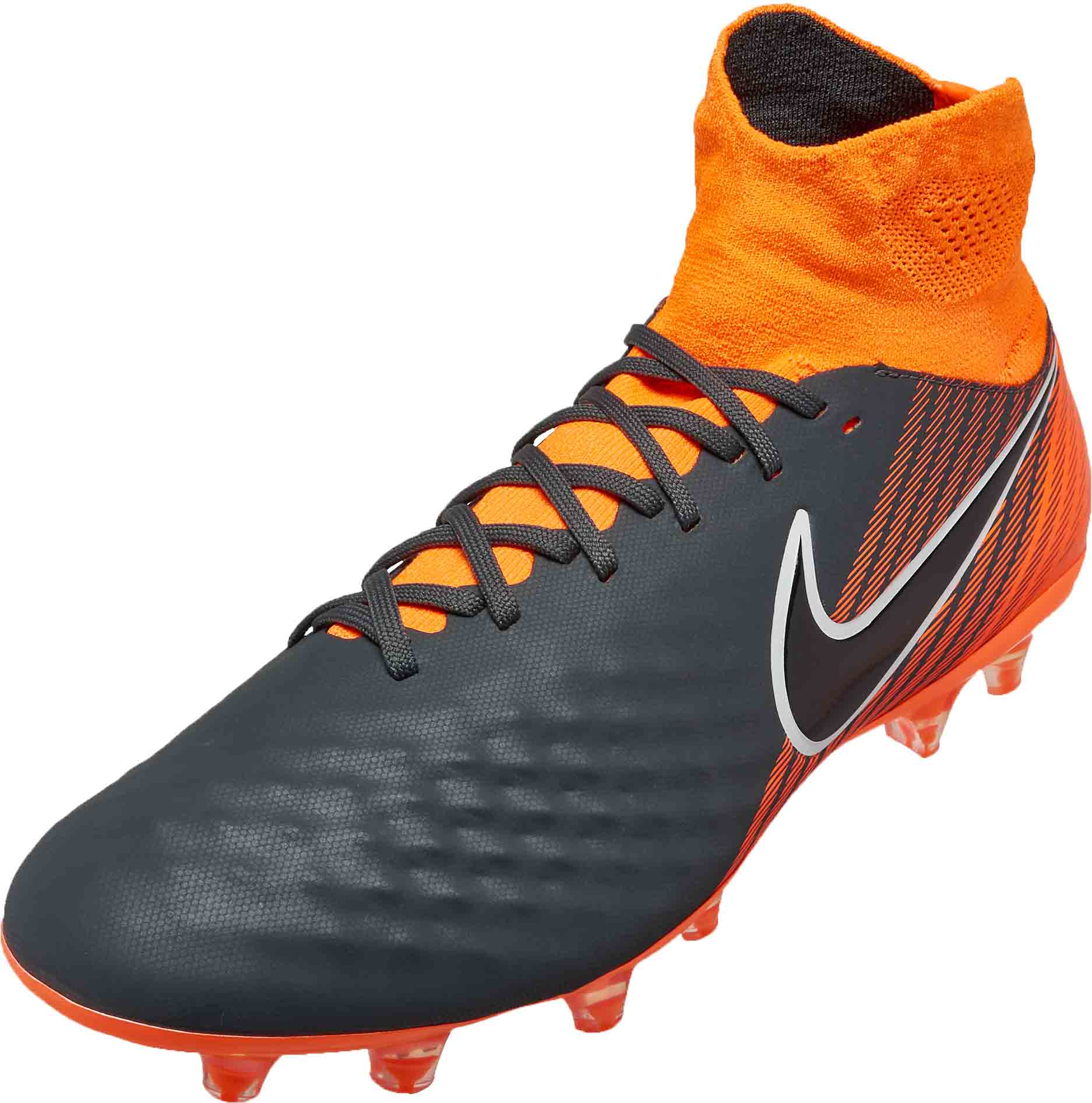 nike magista obra 2 pro df fg dark grey total orange soccerpro. Black Bedroom Furniture Sets. Home Design Ideas