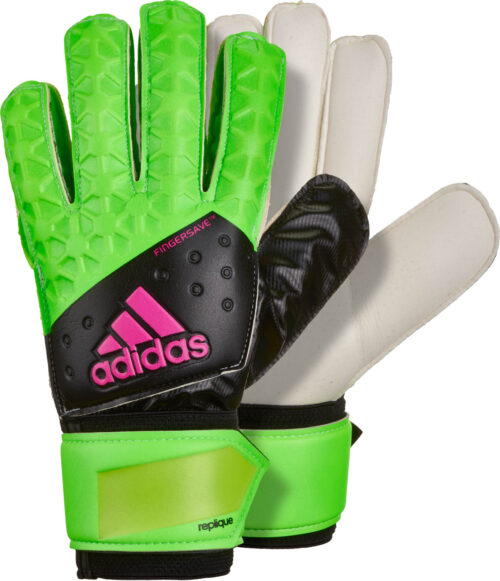 adidas ACE Fingersave Replique Goalkeeper Gloves – Solar Green/Black
