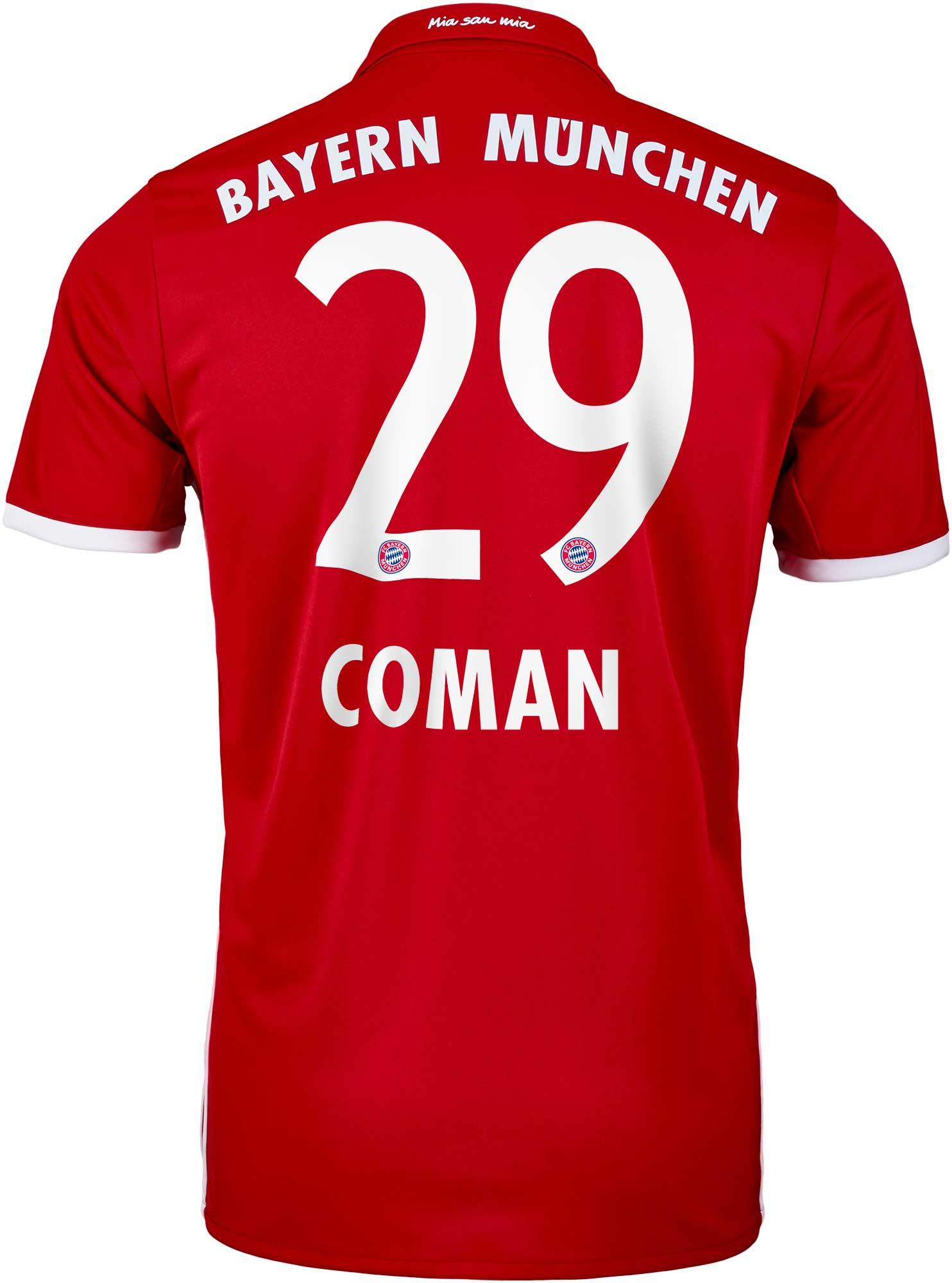 big sale 4e4c8 2b03a adidas Kingsley Coman Bayern Munich Home Jersey - 2016/2017 ...