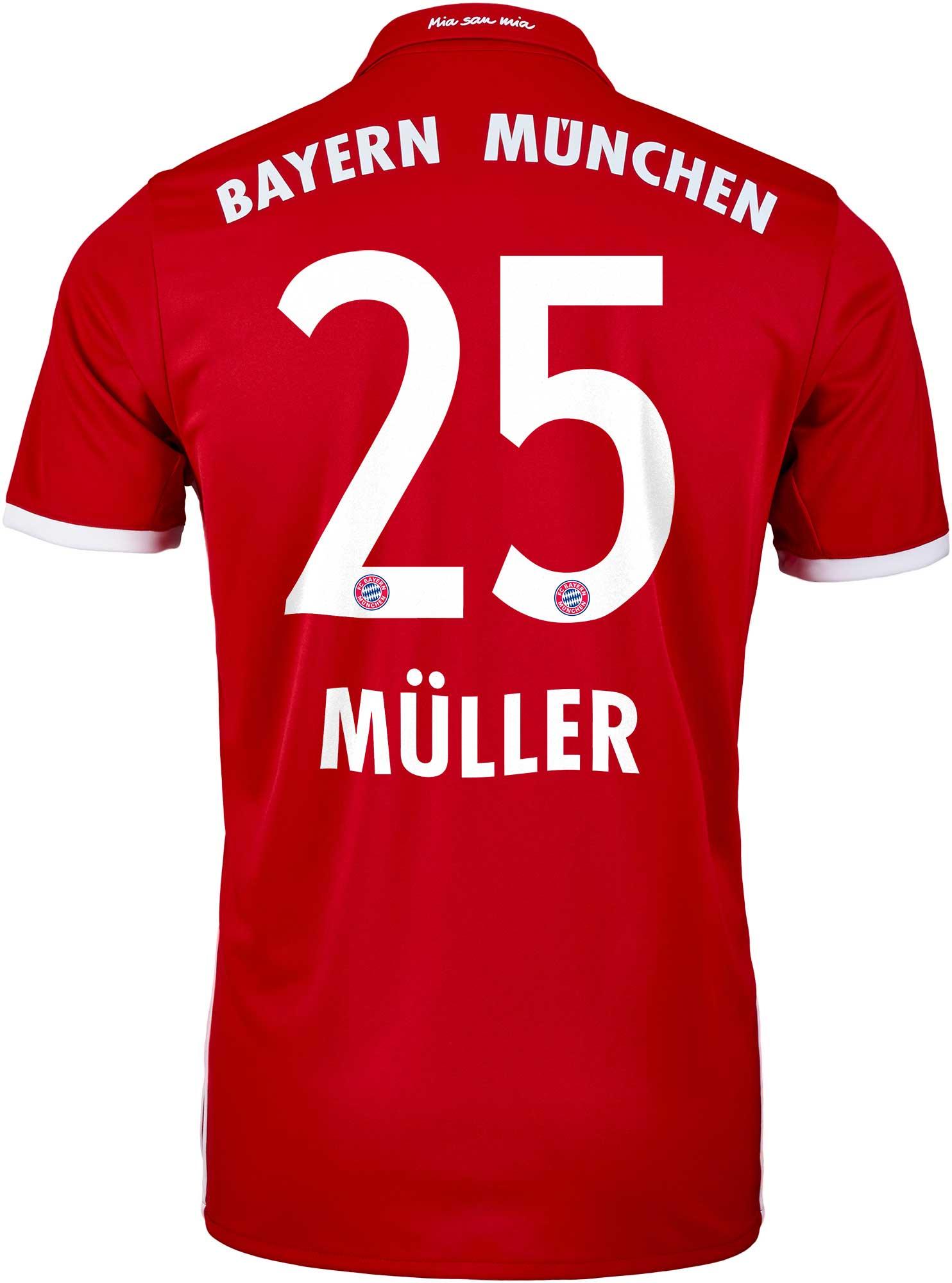 adidas Muller Bayern Munich Jersey - 2016 Bayern Munich Jerseys