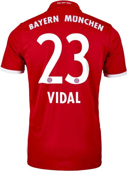 adidas Arturo Vidal Bayern Munich Home Jersey 2016-17